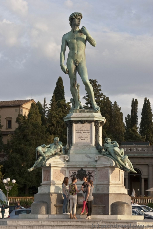 Sculpture of David on the Michelangelo Square