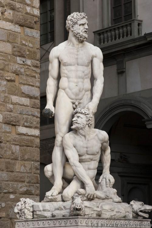 Sculptures on the Piazza della Signoria