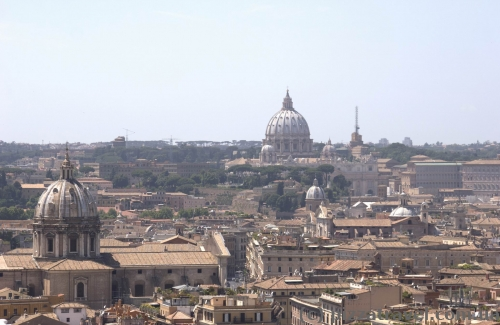 View of Rome from the Altare della Patria