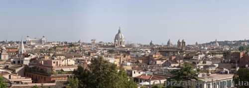 View from the observation deck over the Piazza del Popolo