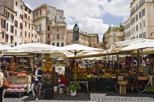Рынок на площади Кампо деи Фиори