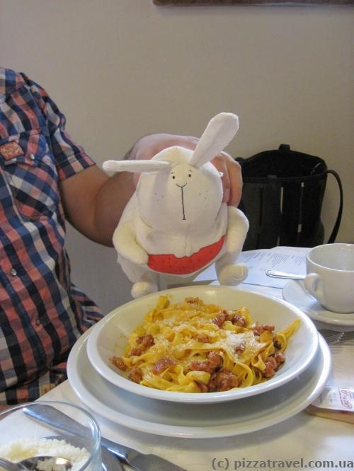 Тальятеллі з кроликом :)