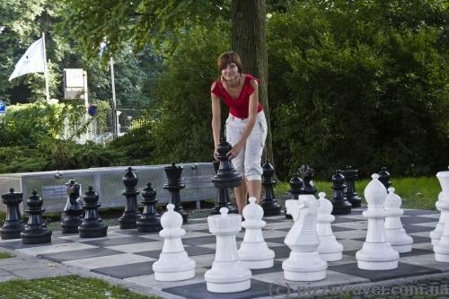 Шахматы в парке Oosterpark в Амстердаме