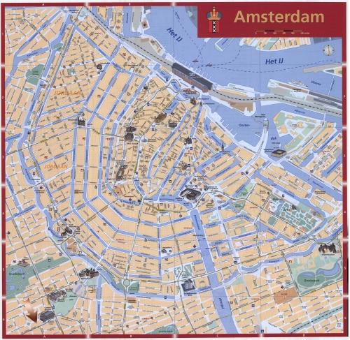 Карта Амстердама