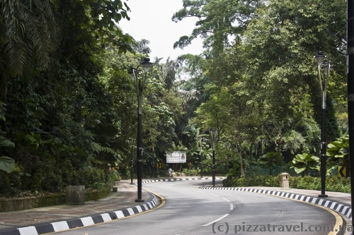 Дорога в парке Lake Gardens