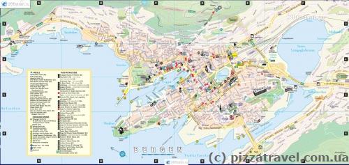 Карта Бергена