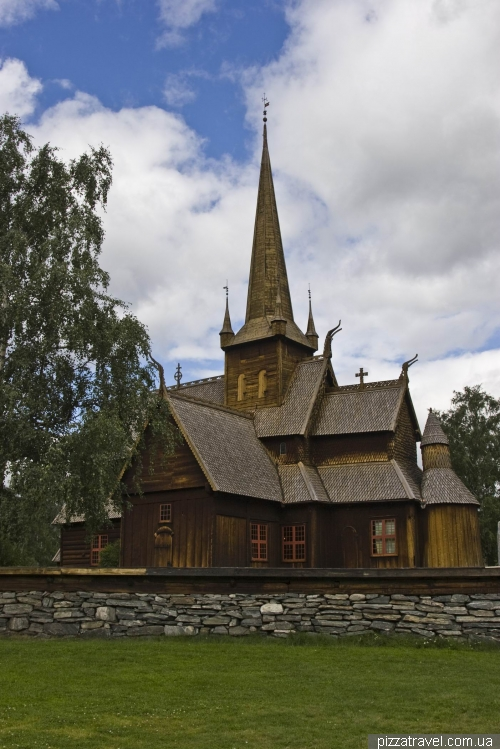 Wooden church in Lom