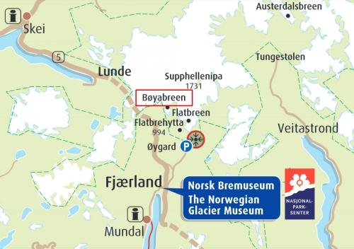 Карта местности возле ледника Боябреен