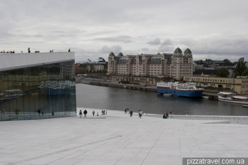 Roof of the Opera House in Oslo