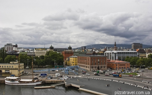 View of Oslo from the roof of the Opera House