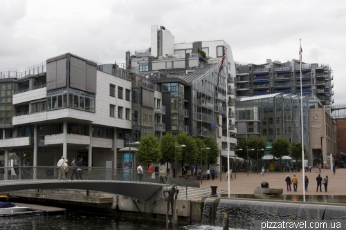 Aker Brygge district in Oslo