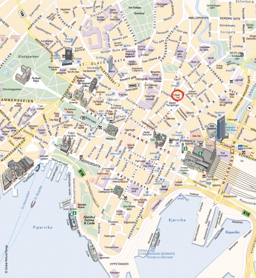 Tourist map of Oslo