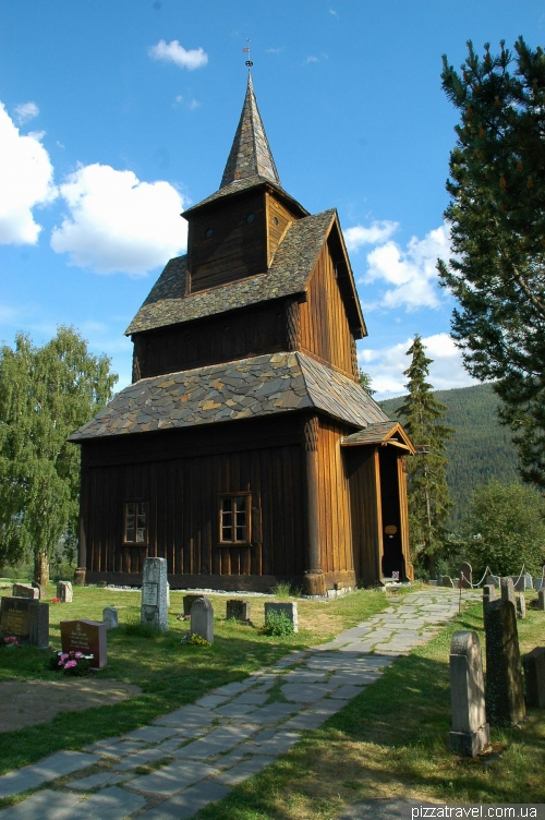 Wooden church in Torpo