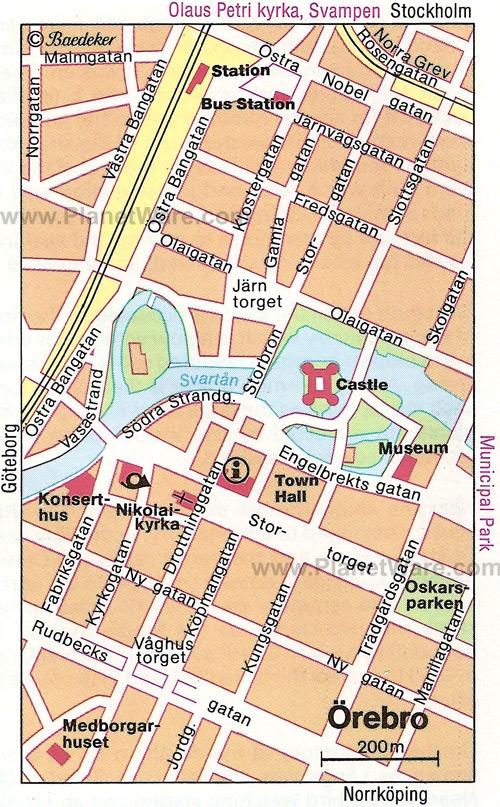 Map of Orebro
