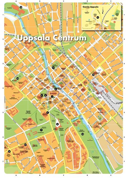 Карта Уппсалы