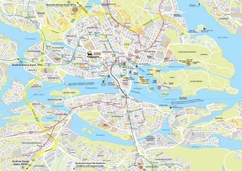 Карта Стокгольма