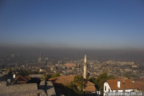 Polluted air over the center of Ankara