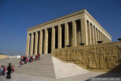 The mausoleum of Mustafa Kemal Ataturk in Ankara