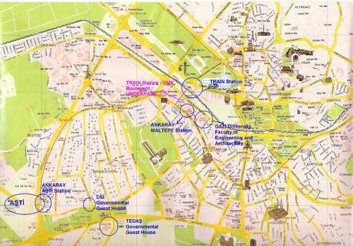 Карта Анкары