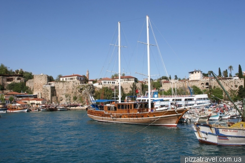 Antalya, harbor in the old town