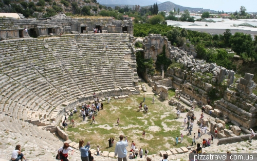 Amphitheater of the ancient city of Myra