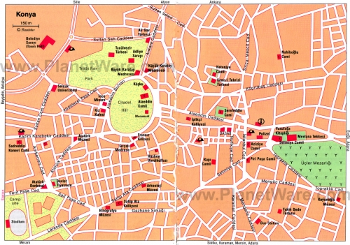 Карта Коньї