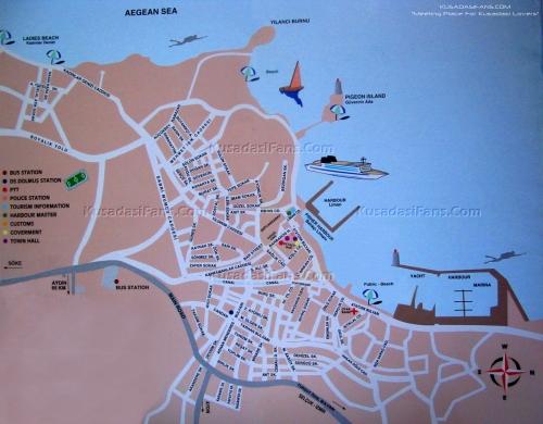 Map of Kusadasi