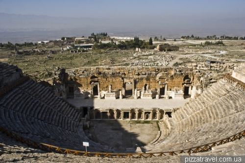 ne of the largest ancient theaters in Turkey, capacity - 10-12 thousand spectators