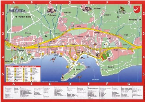 Макарска, карта