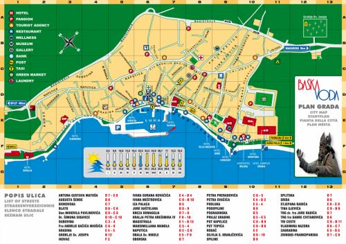 Map of Baska Voda