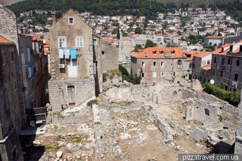 Houses in Dubrovnik, destroyed during the war in 1991