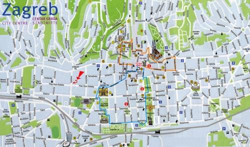 Карта Загреба