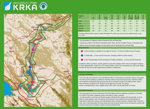 Карта национального парка Крка