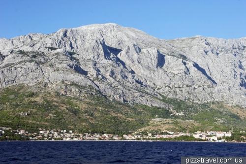 Вид на горный массив Биоково