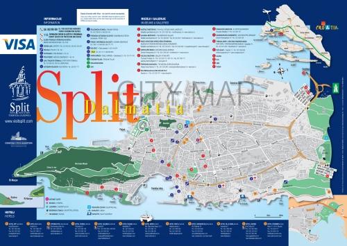 Карта Сплита