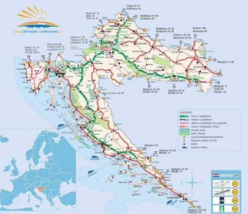 Транспортная карта Хорватии