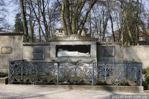 Тут похоронена семья Гёте.