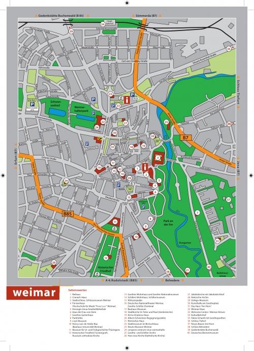 Карта Ваймара