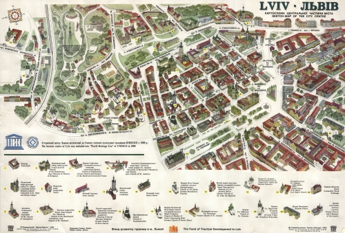 Tourist map of Lviv