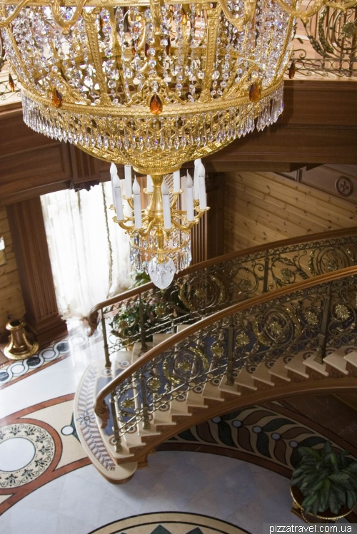 Main staircase at Honka