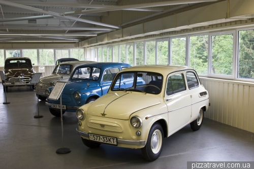 White ZAZ is a unique car, prototype made in Moscow
