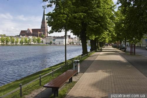 One of the embankments in Schwerin