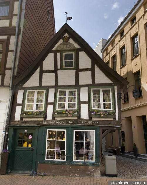 Probably the only surviving house in the old town of Schwerin