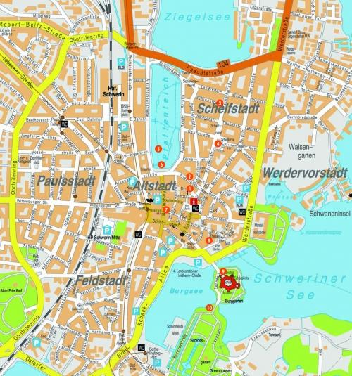Map of Schwerin