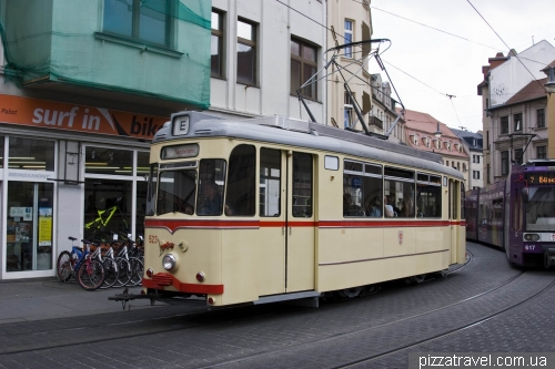 Trams in Halle