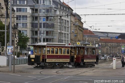 Очень старый трамвай в Лейпциге