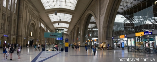 Railway station in Leipzig
