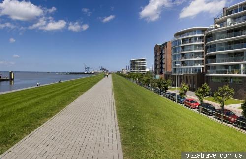 Promenade in Bremerhaven
