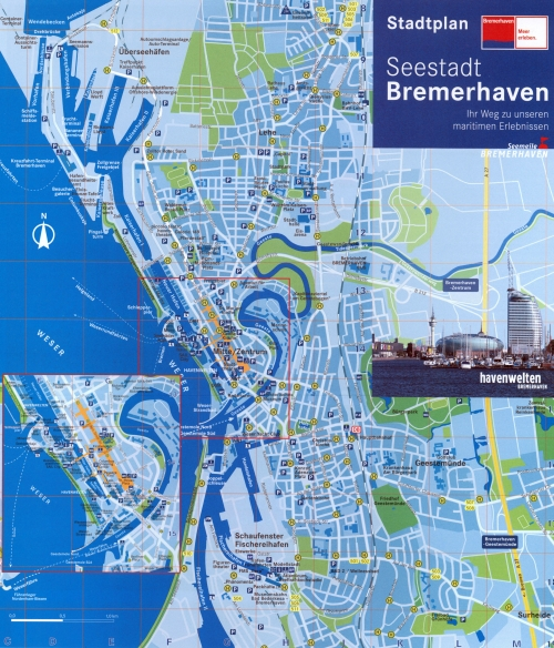 Map of Bremerhaven