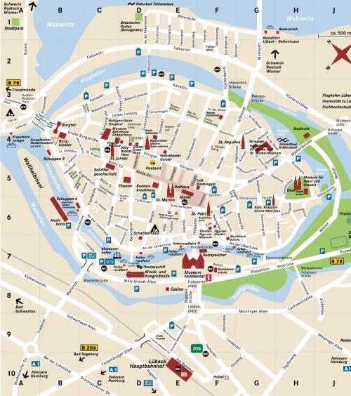 Карта Любека
